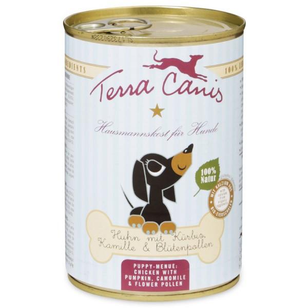 Terra Canis für Welpen Huhn mit Kürbis, Kamille und Blütenpollen - 400g