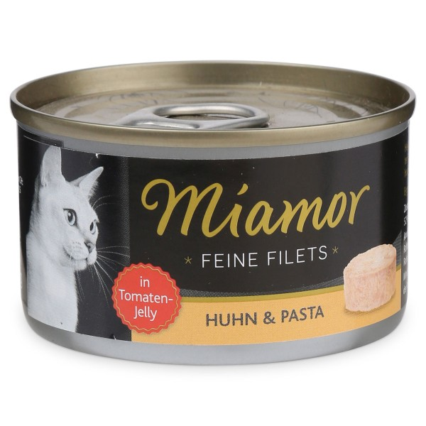 Miamor Feine Filets in Jelly Huhn und Pasta 100g Dose
