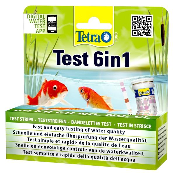 Tetra Pond 6in1 Teststreifen 25 St.