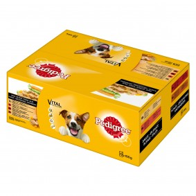 Pedigree Portionsbeutel Multipack Adult in Sauce 72x100g