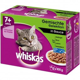 Whiskas Senior 7+ Gemischte Selektion in Sauce