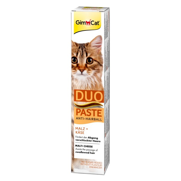 GimCat Anti-Hairball-Duo-Paste Käse + Malz 50g