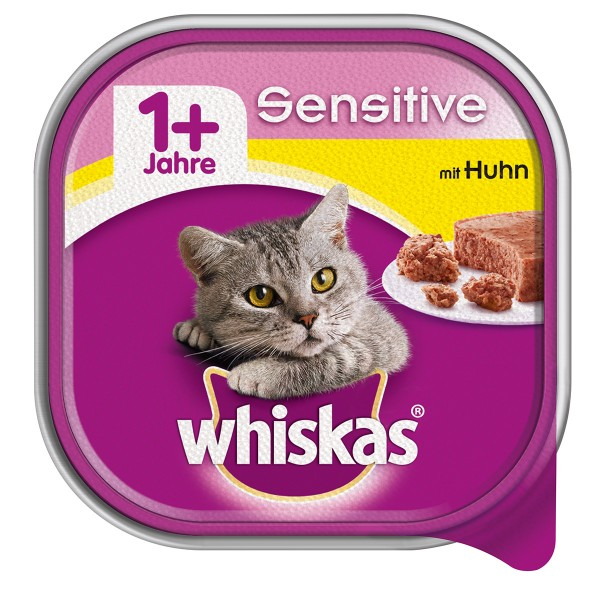 Whiskas Adult 1+ Sensitive mit Huhn 32x100g