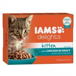 Iams Delights Multipack Kitten Huhn in Sauce 12x85g