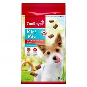 ZooRoyal Hundesnack Mini Mix mit Rind, Hühnchen & Wild 60g