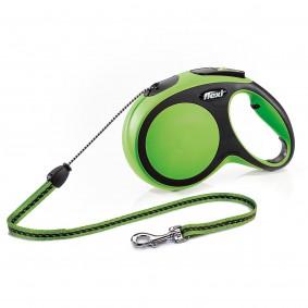 flexi New Comfort lanové vodítko, zelené, 8 m, M