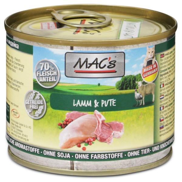 MAC's Cat Katzenfutter Fleischmenü Lamm & Pute
