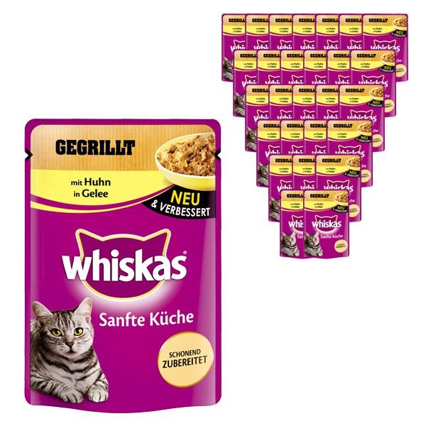 Whiskas Katzenfutter Sanfte Küche mit Huhn in Gelee