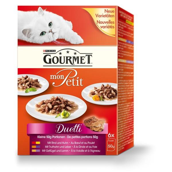 Gourmet Katzenfutter Mon Petit Duetti Fleisch Multipack 6x50g