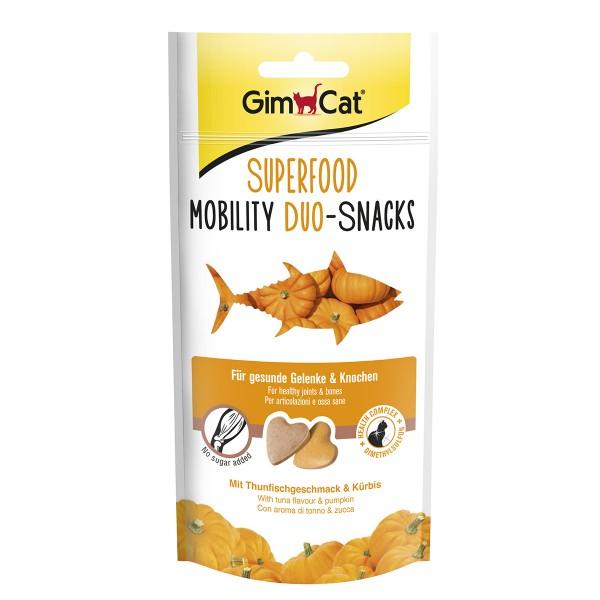 GimCat Superfood Mobility Duo-Snacks mit Thunfischgeschmack und Kürbis