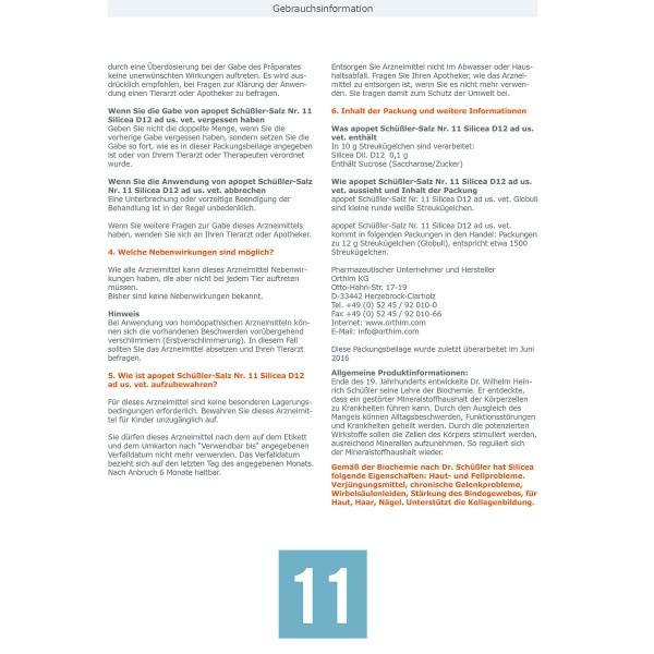 apopet Schüßler Salz Nr. 11 Silicea D12