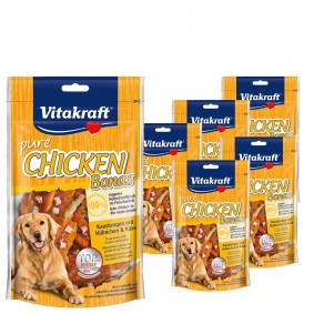 Vitakraft Hundesnack Chicken Bonas mit Käse 5x80g + 1x80g gratis