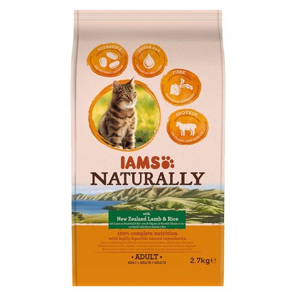 IAMS Naturally Katze Trockenfutter Adult Lamm & Reis