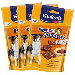 Vitakraft Hundesnack Beef-Stick Quadros Leber & Kartoffel