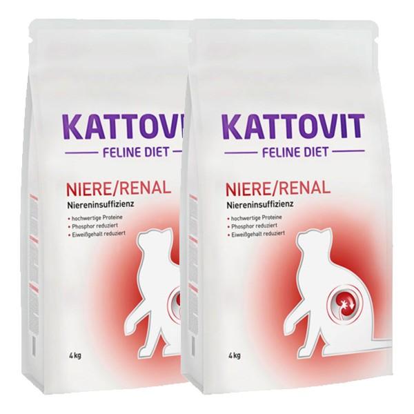 Kattovit Katzenfutter Feline Diet Niere/Renal2x4kg