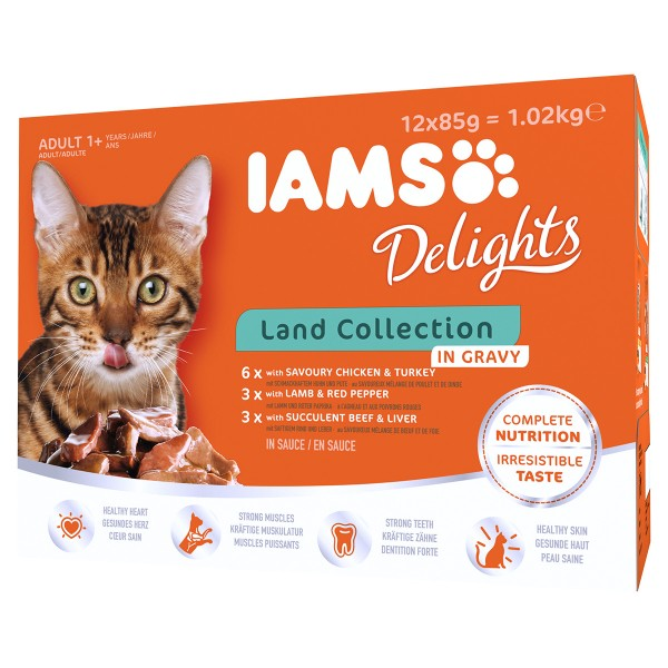 Iams Delights Multipack Land Collection in Sauc...