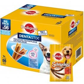 Pedigree Dentastix für kleine Hunde 56 Stück + 10 Pedigree Schmackos GRATIS