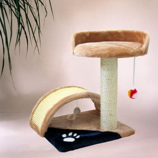 Silvio Design Spieltunnel für Katzen beige/blau