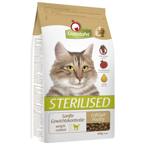 GranataPet Katzen-Trockenfutter Sterilised Gefl...