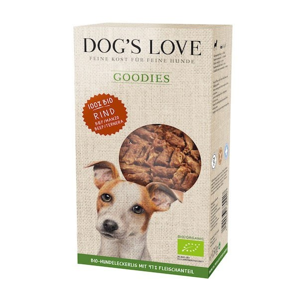 PetCo GmbH Dog´´s Love Hundesnack Goodies-Bio Rind 150g