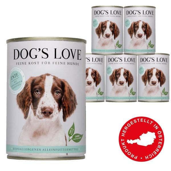 Dog's Love Hypoallergen Ente mit Topinambur & Karotten 6x400g