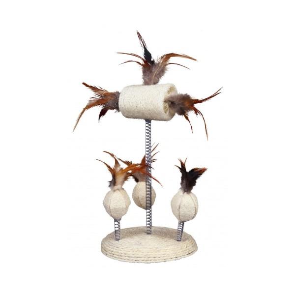 Trixie Naturspielzeuge auf Spiralfedern