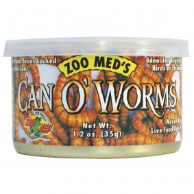 Zoo Med Can o' Worms environ 300 vers de farine 35 g