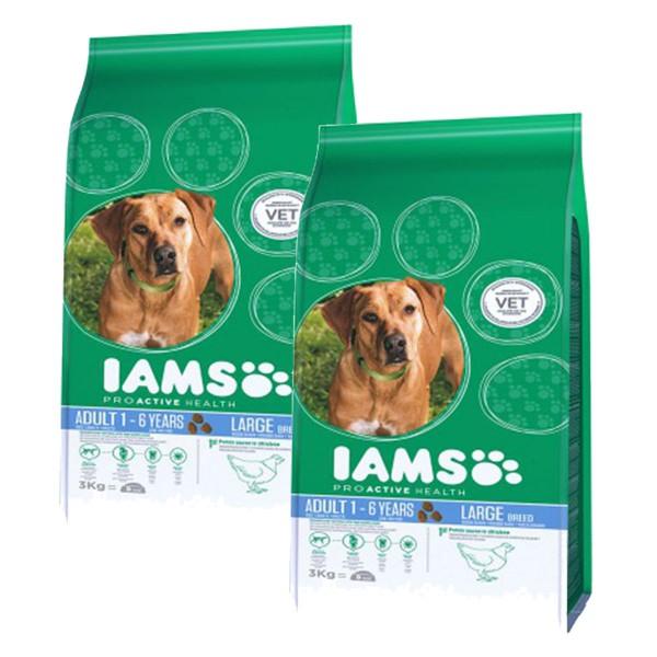 IAMS Hund Adult Große Rassen Huhn 2x12kg