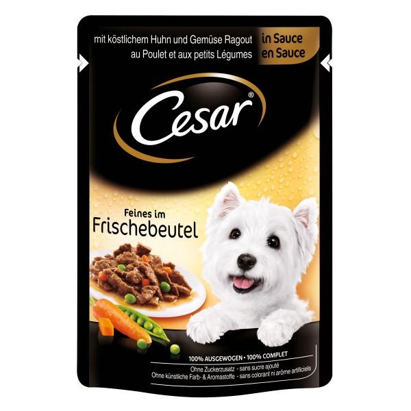 Cesar Feines im Frischebeutel mit Huhn & Gemüse in Sauce 24x100g