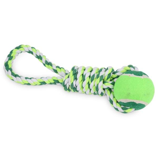 ebi Hand-Spieltau mit Ball für Hunde
