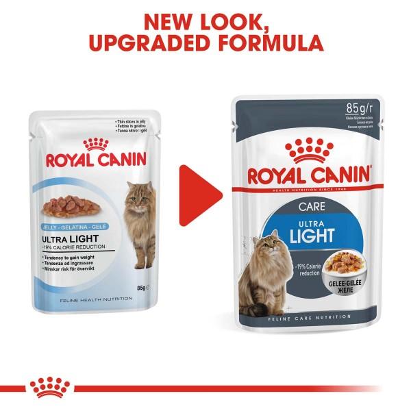 ROYAL CANIN Ultra Light Nassfutter in Gelee für übergewichtige Katzen 12x85g
