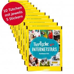 PANINI Tierische Internetstars Sammelsticker 50er Pack (10 Tütchen)