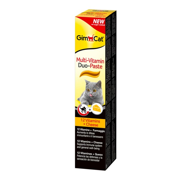 GimCat Multi-Vitamin Duo Paste Käse + 12 Vitamine 50g