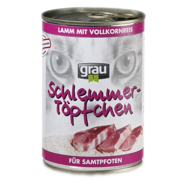 Grau Schlemmertöpfchen Adult Lamm mit Vollkornr...