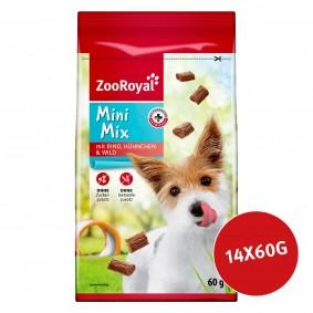 ZooRoyal Hundesnack Mini Mix mit Rind, Hühnchen & Wild 14x60g