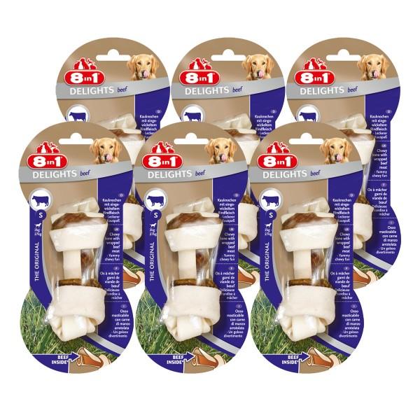 8in1 Hundesnacks Delights Kauknochen Rind