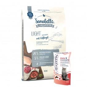 Sanabelle Light 10kg+4x55g Snack gratis