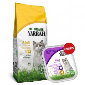 Yarrah Bio Huhn 800g + Yarrah Bio Pate Huhn&Truthahn mit Aloe Vera 100g gratis