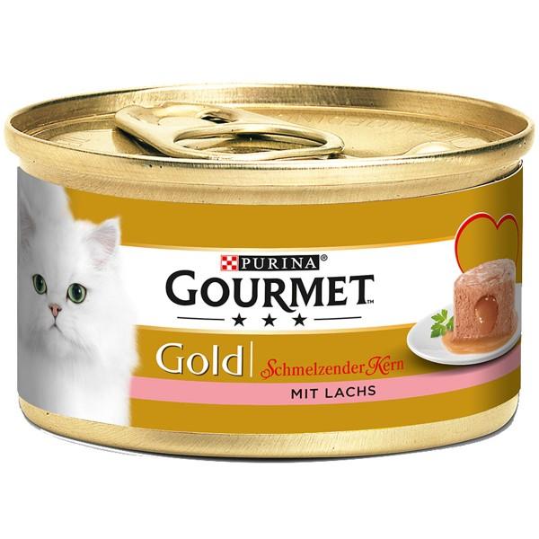Gourmet Gold Schmelzender Kern mit Lachs - 38+1...