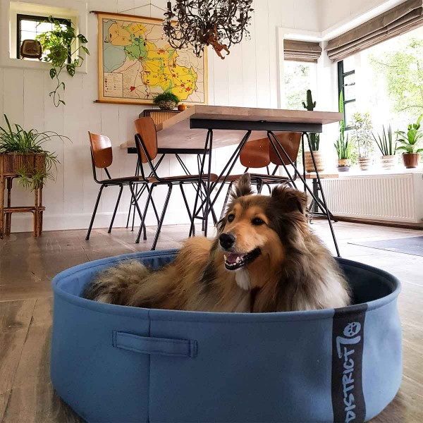 District 70 Hunde- und Katzenbett Lounge Denim blau