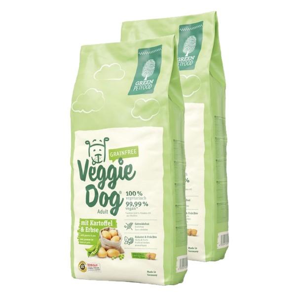 Green Petfood VeggieDog grainfree Hundefutter Trockenfutter 2x15kg