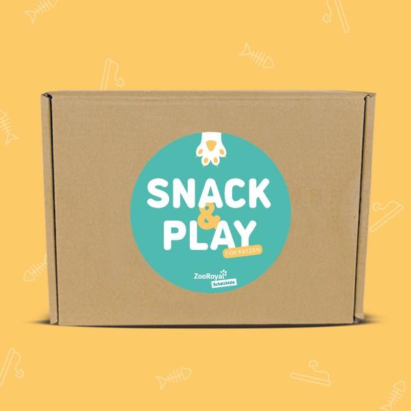 ZooRoyal Schatzkiste Katze - Snack & Play Edition