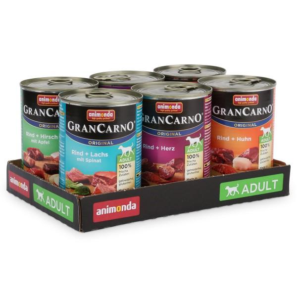 Animonda Hundefutter GranCarno Mixpaket 1 6x400g