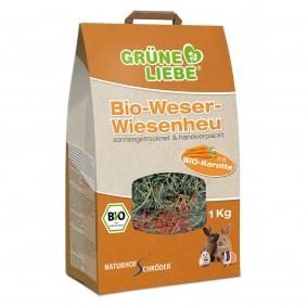 Naturhof Schröder Grüne Liebe Bio-Weser-Wiesenheu mit Karotte 1 kg