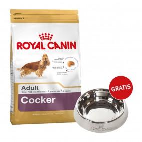 Royal Canin Cocker Adult 12kg + Edelstahlnapf silber gratis