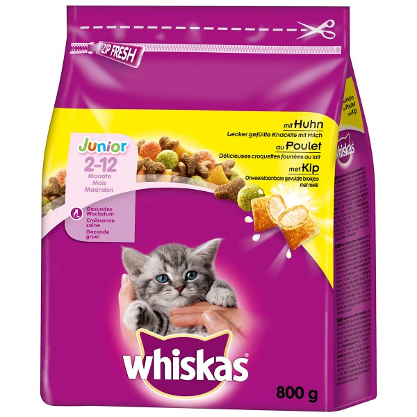 Whiskas Junior mit Huhn - 800g