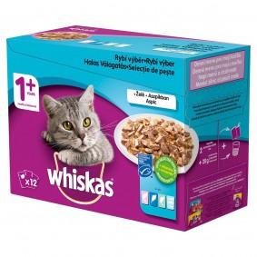 Whiskas kapsičky pro dospělé kočky: rybí výběr v želé