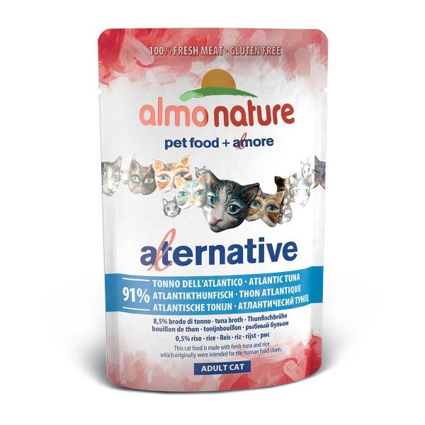 Haustier: Almo Nature Alternative wet Cat Atlantikthunfisch 24x55g