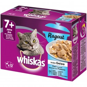 Whiskas Ragout Senior 7+ Fischauswahl in Gelee