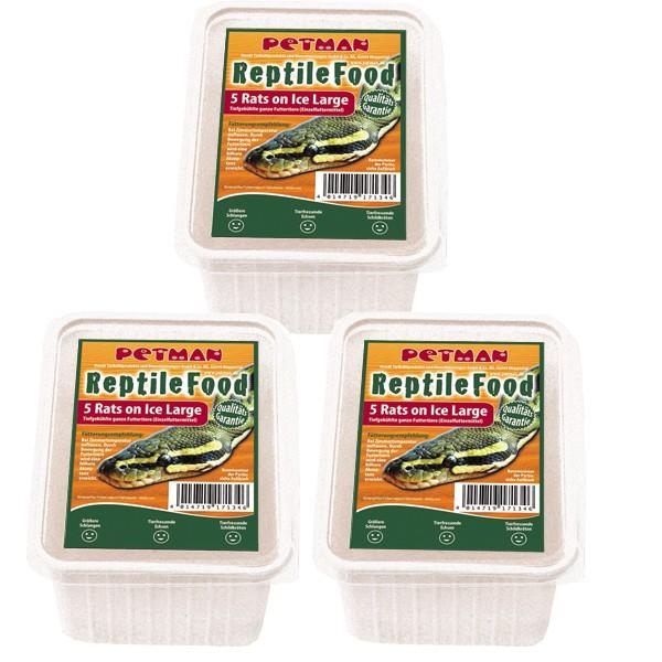 Petman Reptilien-Frostfutterpaket Ratte - Large- 3 x 5Stk